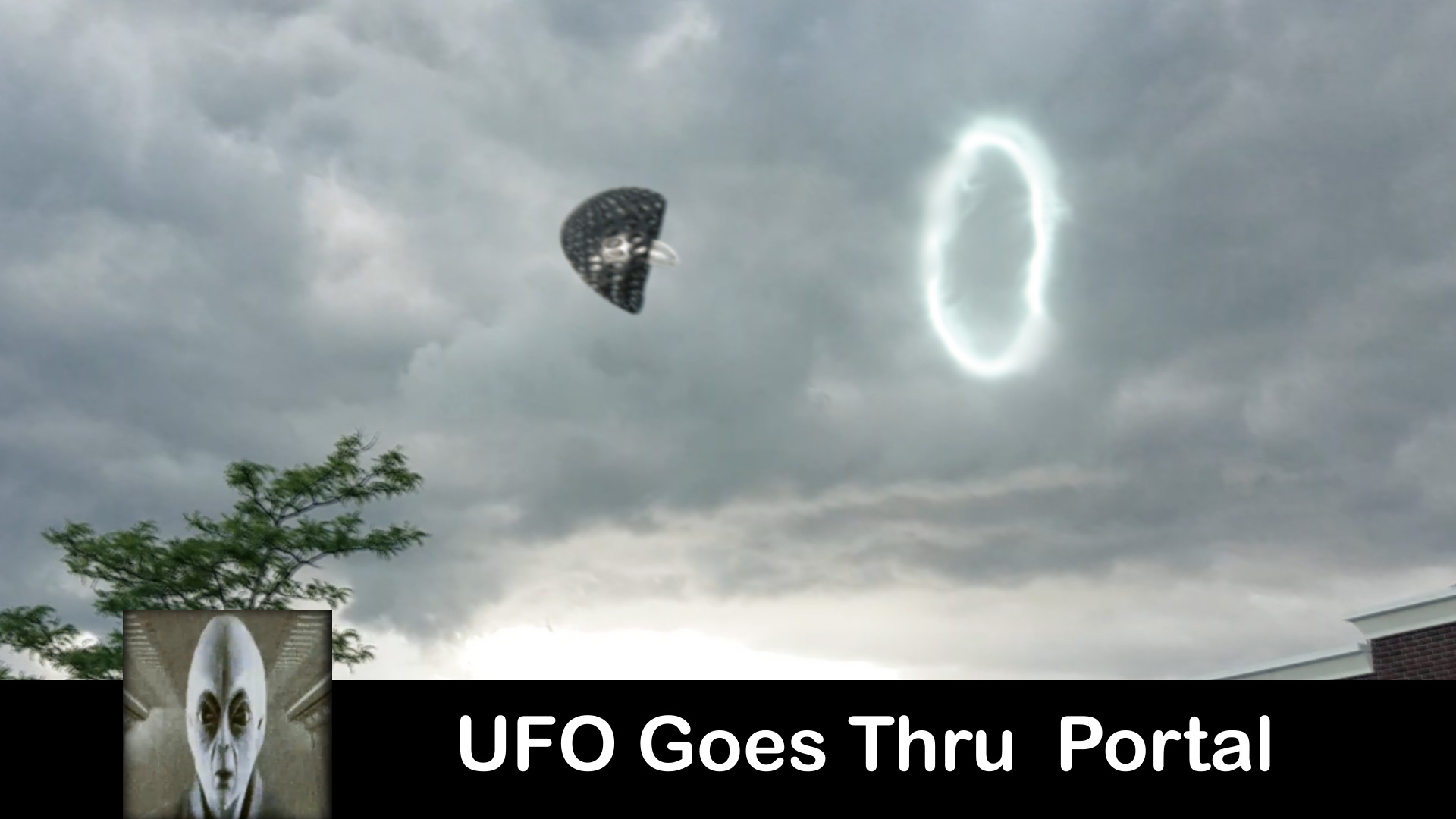 UFO Goes Into A Portal July 2017