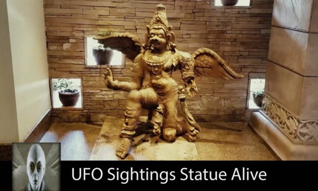 UFO Sighting This Statue Is Alive October 31st 2017