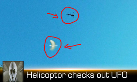 Helicopter Checks Out UFO April 22nd 2018